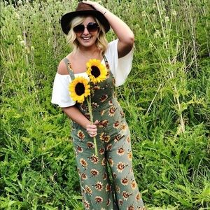 Pants - Sunflower overall jumpsuit